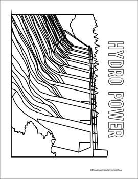 Energy Sources Coloring Book by Flowering Hearts