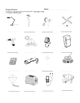 34 Forms And Sources Of Energy Worksheet Answers
