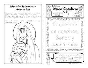 Enero 2017 Catholic Kids Bulletin: In Spanish! by Catholic