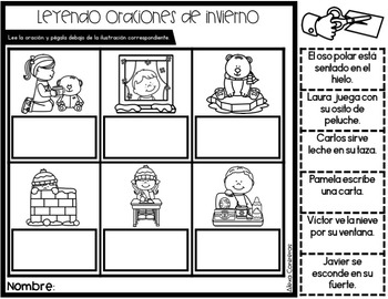 Enero Kinder (January print and go activities in Spanish