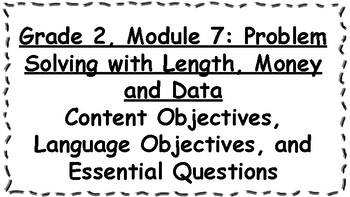 Engage NY 2nd Grade, Module 7 Content & Language