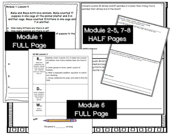 Engage NY Application Problems for 2nd Grade ALL Modules