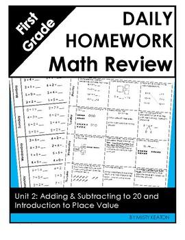 Eureka Math Grade One Module 2 Weekly Homework by