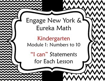 Engage New York / Eureka Math Kindergarten Module 1