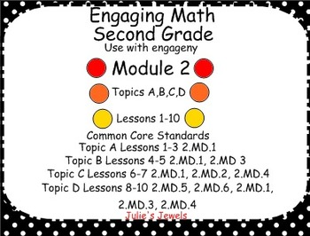 Engage NY Math (Eureka) Module 2 for Second Grade Smart Board by Julie's Jewels