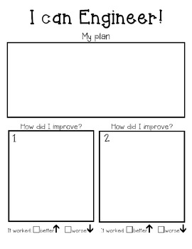 Engineering Process Recording Sheet Primary By Keen On