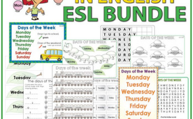 English Days Of The Week Bundle Of Esl Activities By