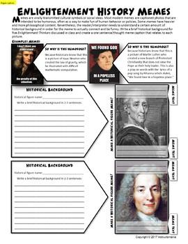 Enlightenment Thinker Memes For World History Or Us