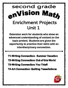Enrichment Project Packet Unit 1 enVision Math 2nd Grade