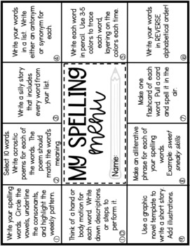 Entire Year of Upper Grade Spelling and Activities by