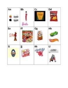 Environmental print alphabet chart also by amy   early childhood rh teacherspayteachers