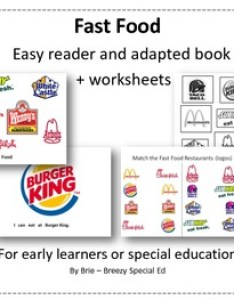Environmental print fast food adapted book  worksheets autism special needs also rh teacherspayteachers