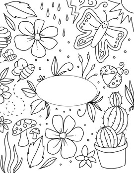 Environmental Science Binder Cover Coloring Page by Art By