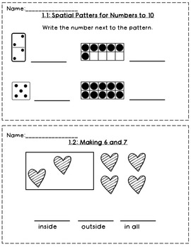 Envision Math 1st Grade Topic 1 by Whole Hearted Teaching