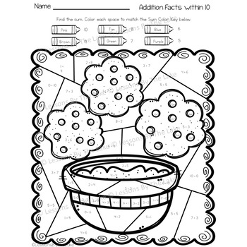 Envision Math 2.0 Topic 2 Color By Number Activities 2nd