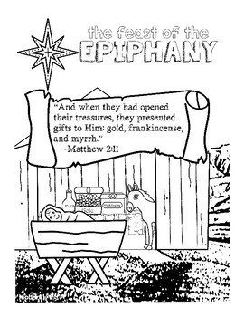 Epiphany Anchor Charts & Coloring Pages by