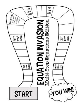 Equation Invasion! A Solving Equations Board Game (Multi