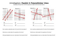 Equations of Parallel & Perpendicular Lines (Discovery ...