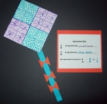 Equivalent Fractions Kite Art Project By Yearn To Learn
