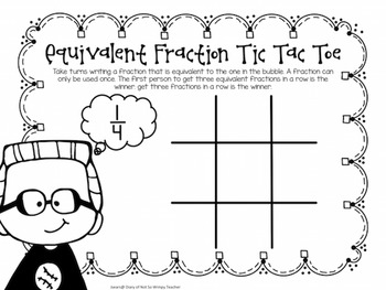 Equivalent Fraction Tic Tac Toe Games by Not So Wimpy