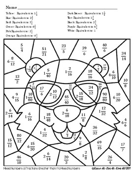 Equivalent Fractions Groundhog's Day Coloring Page by