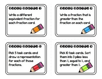 Equivalent Fractions Task Cards by Meredith Anderson