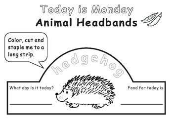 Eric Carle Today is Monday--Animal Headbands by Rick's