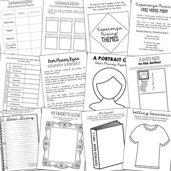 Esperanza Rising Interactive Notebook Novel Unit Study