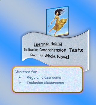 Esperanza Rising Reading Comprehension Tests by ELA