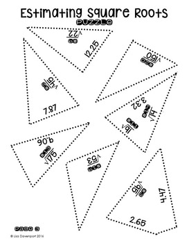 Estimating Square Roots (Star- Shaped Puzzle) by Lisa