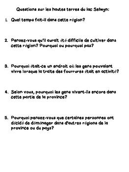 Études sociales de 4e année Lieux et Temps Unite 1 French