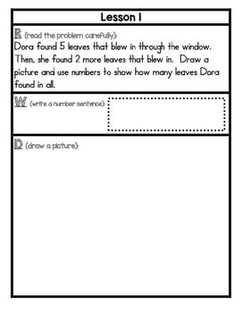 Eureka Math Application Problem Journal First Grade Module