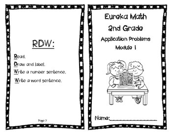Eureka Math Application Problems Booklet by Art Apps and