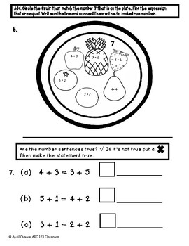 Eureka Math Assessment First Grade Module 1 Topic E Test