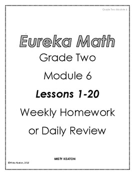 Eureka Math Grade Two Module 6 Weekly Homework by