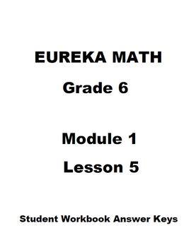 Eureka Math Grade 6 Module 1 Lesson 5 Student Workbook