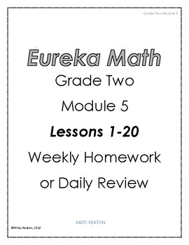 Eureka Math Grade Two Module 5 Weekly Homework by