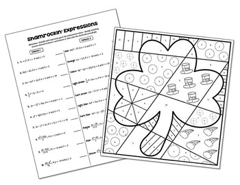 Evaluating Expressions Coloring Activity by All Things