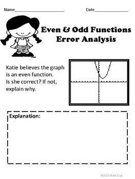 Even and Odd Functions: No Prep Lesson by Just Mathematics
