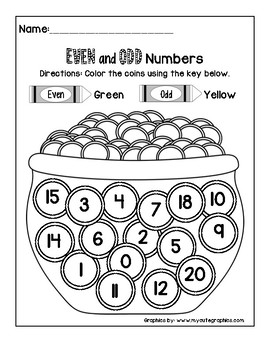 Even and Odd Numbers: St. Patty's Day by