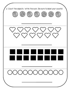 Everyday Math First Grade Unit 2 Review Packet by