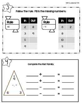 Everyday Math: Second Grade Math Box Reviews (Units 1, 2