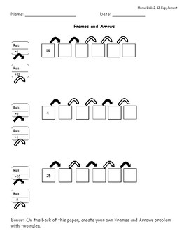 Everyday Math 4 Homework Supplements Unit 2 Grade 2 by
