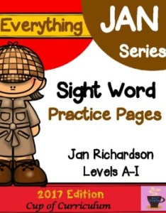 Sight word practice pages jan richardson levels   also words teaching resources teachers pay rh teacherspayteachers