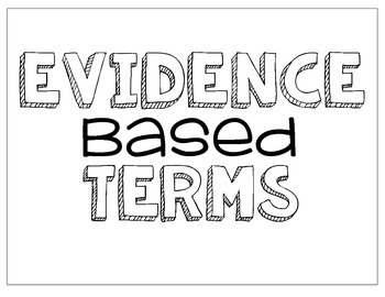 Evidence Based Terms {Bulletin Board} Showing Proof! by