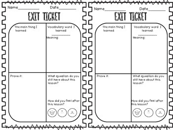 Exit Slip Ticket: Lesson Reflection by LearningandGrowing
