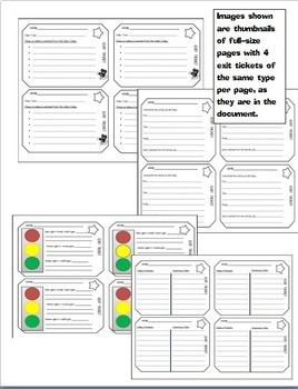 30 Exit Tickets Variety Pack for Middle School (Exit Slips