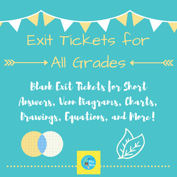 Exit Ticket Templates Teaching Resources | Teachers Pay Teachers