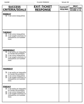 Exit Ticket Template - DOC by Elizabeth Anderson | TpT