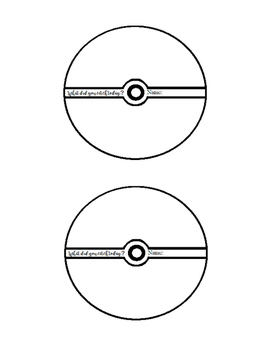 Exit Ticket Template Free (Pokemon Themed - Pokeball) by bitsbybets